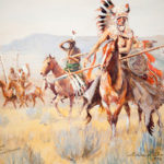 Blackfoot Men, Western Canada, 1932 John Edward Borein (American, 1872-1945) Watercolor on paper Promised gift of William S. Burtness