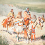 Blackfoot Women, Western Canada, 1932 John Edward Borein (American, 1872-1945) Watercolor on paper Promised gift of Lynn and Robert Burtness