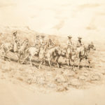 Five Cowboys in Desert John Edward Borein (American, 1872-1945) Etching Gift of Marlene and Warren Miller