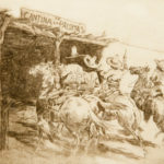 La Cantina de Las Palomas, No. 2 John Edward Borein (American, 1872-1945) Etching and drypoint 9 x 11 inches Gift of Mrs. Kennedy Hamill In memory of her husband 1965.191.24