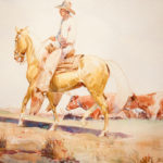 Outrider on Palomino John Edward Borein (American, 1872-1945) Watercolor and gouache on paper Promised gift of Marlene and Warren Miller
