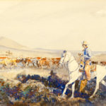 Tending the Herd John Edward Borein (American, 1872-1945) Watercolor on paper 9 x 14 inches Gift of Harold A. Parma Estate 1998.30.1