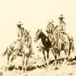 Three Cowboys on Horse at Rest John Edward Borein (American, 1872-1945) Pen and ink on paper 8 x 10 inches Gift of Lucille (Mrs. Edward) Borein x.3.78.65.47 ce