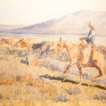 Trail Herd John Edward Borein (American, 1872-1945) Watercolor on paper Promised gift of George Burtness